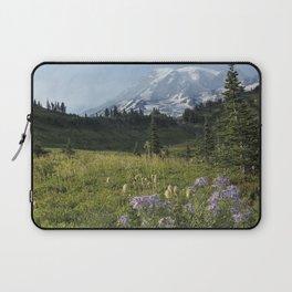 Wildflowers and Mount Rainier Laptop Sleeve
