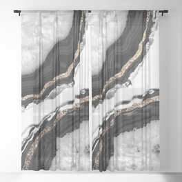 Agate Glitter Glam #2 #gem #decor #art #society6 Sheer Curtain