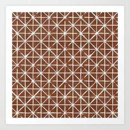 geometric triangles - brandywine Art Print