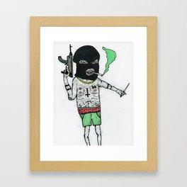 Crime Boy 2000 Framed Art Print