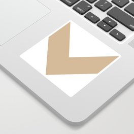 Chevron (Tan & White) Sticker