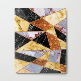 Molten Metal & Marble Metal Print