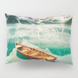 Boats on the lake Pillow Sham