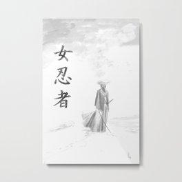 Kunoichi- The snow path Metal Print