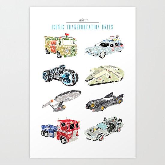 The Iconic Transportation Units Art Print