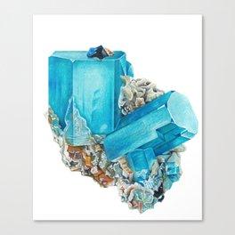 Aquamarine Mineral Stone Canvas Print