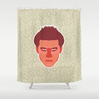 buffy Shower Curtains featuring Angel - Buffy the Vampire Slayer by Kuki