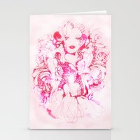marylin monroe Stationery Cards featuring Marylin Monroe by FlowerMoon Studio