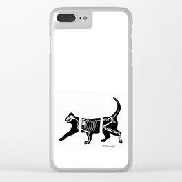 Skelekitty Clear iPhone Case