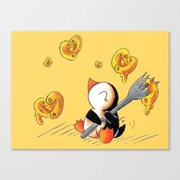 Gooey, Cheesy Hearts Canvas Print