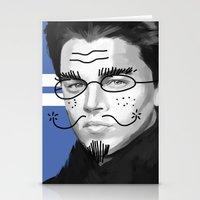 leonardo dicaprio Stationery Cards featuring Leonardo DiCaprio by Pazu Cheng