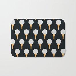 Golf Ball & Tee Pattern (Black) Bath Mat