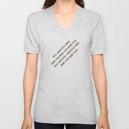 New York City (typography diagonal) Unisex V-Neck