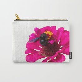 isolated bluebottle on flower Carry-All Pouch