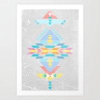 navajo Art Prints featuring Navajo by Marta Olga Klara