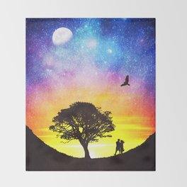 When the stars were shining Throw Blanket