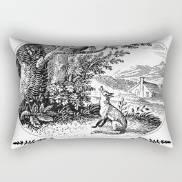 the fox and the crow Rectangular Pillow
