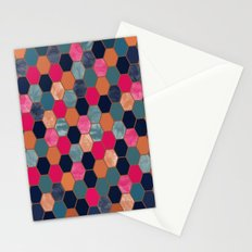 Colorful Honeycomb Stationery Cards