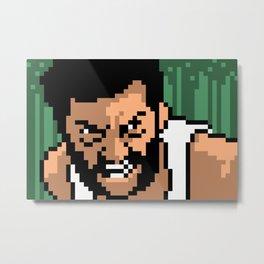 Logan minimal pixel art Metal Print