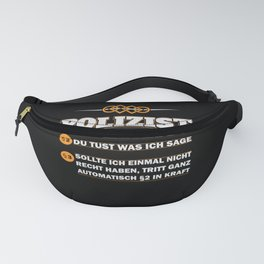 Policeman gift blue light party police men Fanny Pack