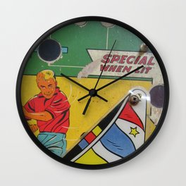 Vintage Pinball Machine Wall Clock