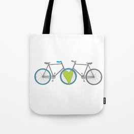 Bikes in Love Tote Bag