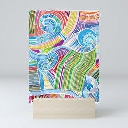 Happy Fork Shells Mini Art Print