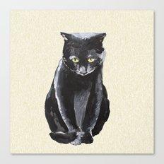 sad cat  Canvas Print