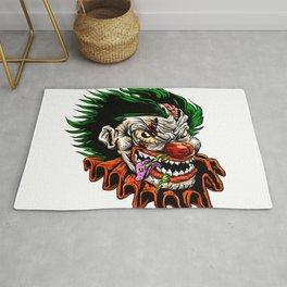 zombie evil clown Rug