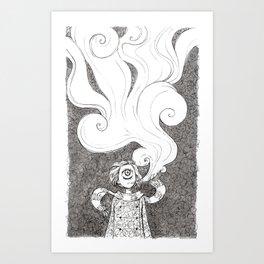 Winter Smoke Art Print