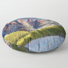 First Snow Maroon Bells Floor Pillow