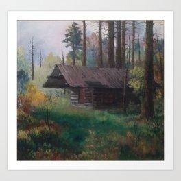 Cabin in the Cariboo of BC Art Print