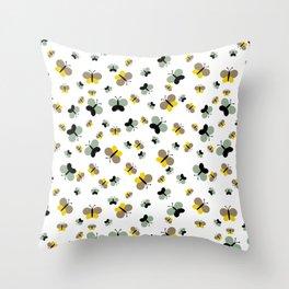 Crisscross Butterflies V.03 - Porcelain White Color Throw Pillow