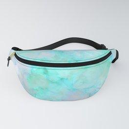 Irridescent Aqua Marble Fanny Pack