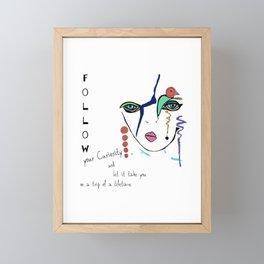 Follow your curiosity Framed Mini Art Print