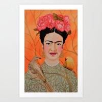 frida a coyoacan Art Print