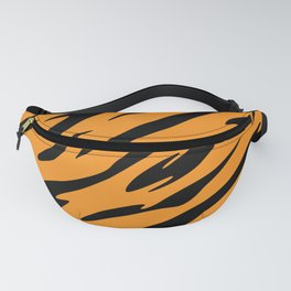 Bold and Beautiful Black and Orange Abstract Tiger Striped Pattern Fanny Pack