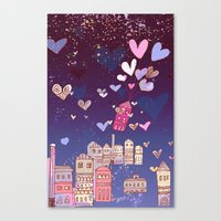 happiness Canvas Prints featuring happiness by Bunny Noir