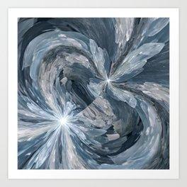 Celestite Waves Art Print