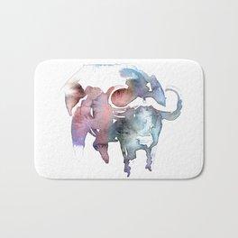 African buffalo / Abstract animal portrait. Bath Mat