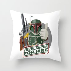 Freelance Bounty Hunter Throw Pillow