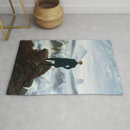 Wanderer above the Sea of Fog Painting by Caspar David Friedrich Rug