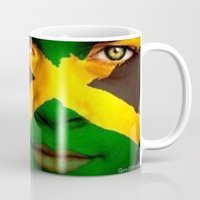 jamaica Mugs featuring Jamaica Love  by GoodVybz