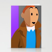 tintin Stationery Cards featuring Tintin, the young reporter by DocPastor
