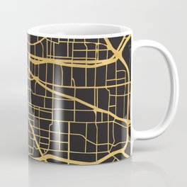 MEMPHIS TENNESSEE GOLD ON BLACK CITY MAP Coffee Mug