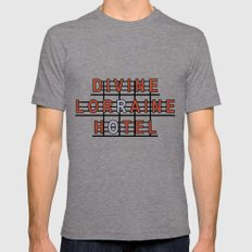 Divine Lorraine Hotel Mens Fitted Tee LARGE Tri-Grey