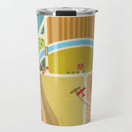 from above in the skies of Picardy Travel Mug