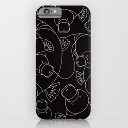 Minimalist Platypus Black and White iPhone Case