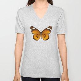 "Butterfly species danaus chrysippus ""plain tiger"" Unisex V-Neck"