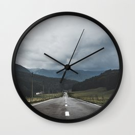 One Way to the Mountain Wall Clock